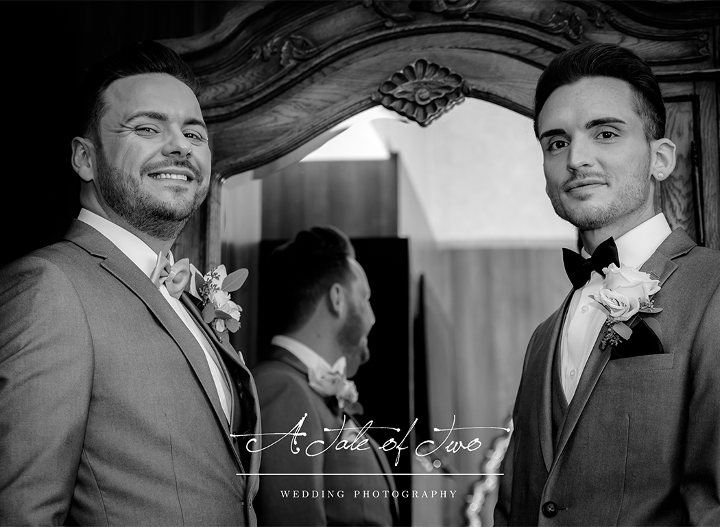 Groom and Bestman, taken for Michael and Simon`s wedding at 30 James Street Hotel, Liverpool...for booking info please visit www.ataleoftwo.co.uk