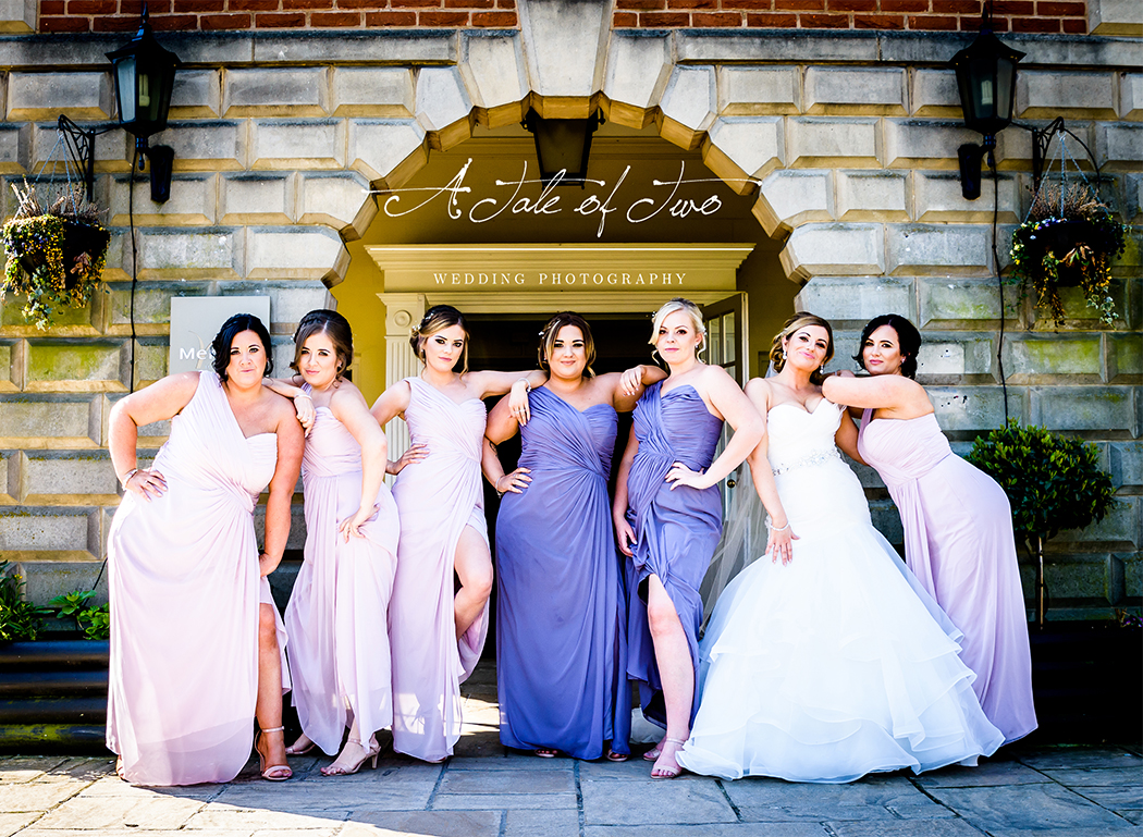 Bride and Bridesmaids at The Mercure Haydock Hotel, Warrington for Natalie and Ben`s wedding...for booking info please visit www.ataleoftwo.co.uk