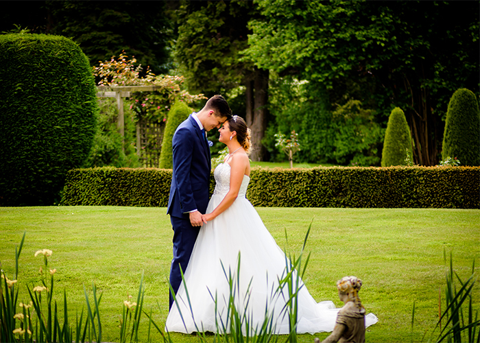 Bride and Groom at Mottram Hall