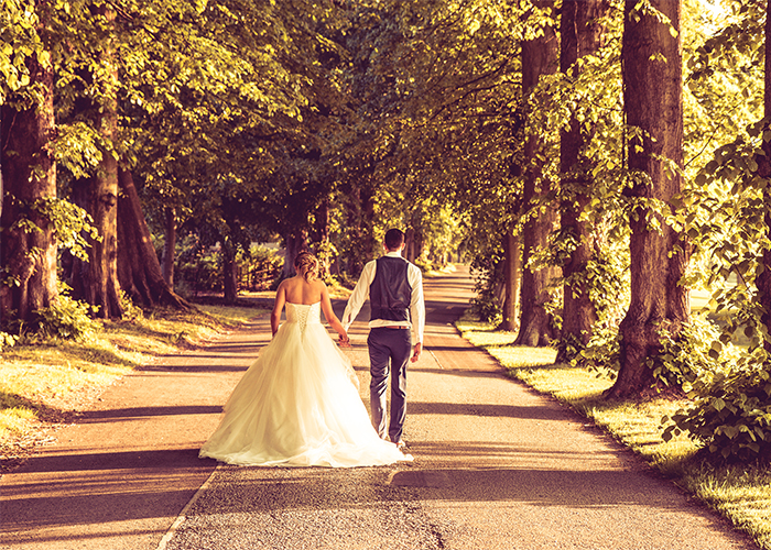 The Bride and Groom at Mottram Hall