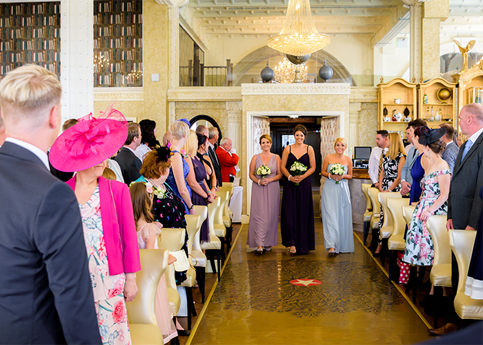 Bridesmaids walking the isle at 30 James Street